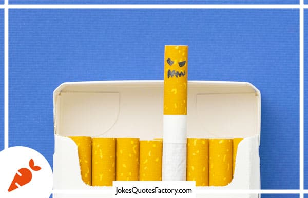 Cigarettes are so good for the environment. They kill humans. - dark humor jokes