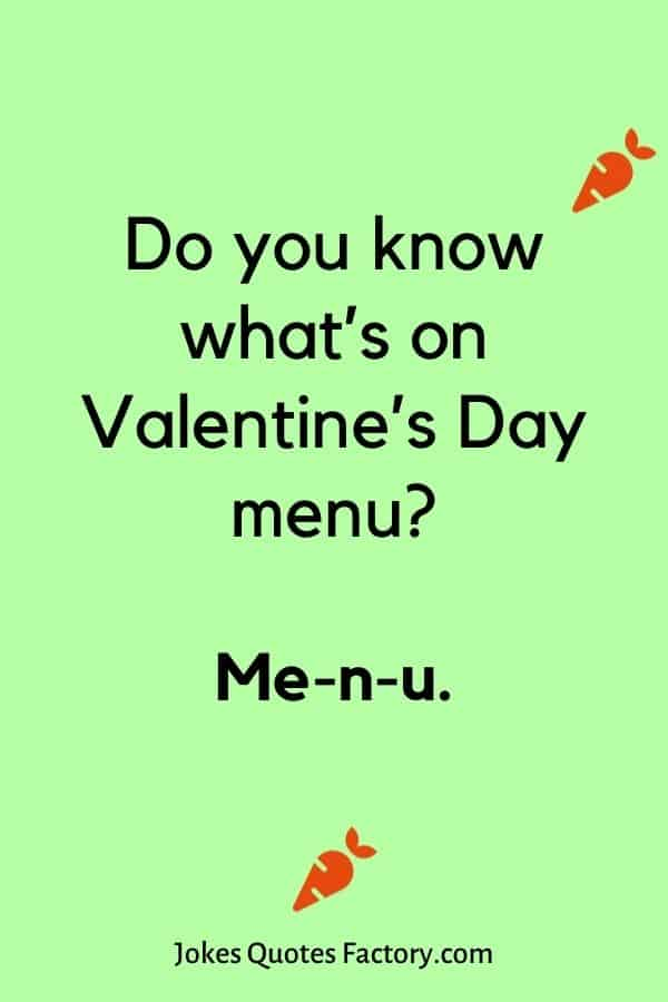 Do you know what's on Valentine's Day menu