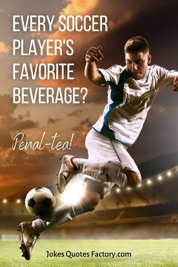 Every soccer player's favorite beverage