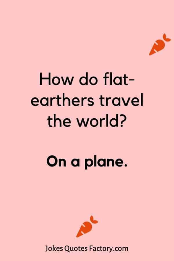 How do flat-earthers travel the world