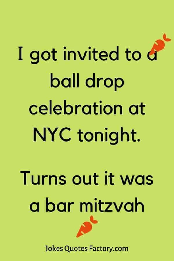 I got invited to a ball drop celebration at NYC tonight