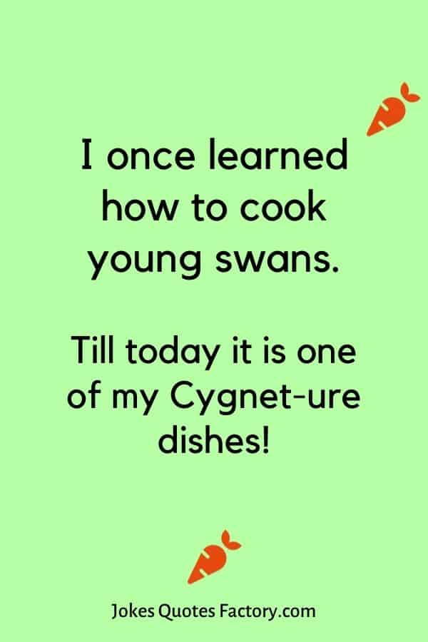 I once learned how to cook young swans