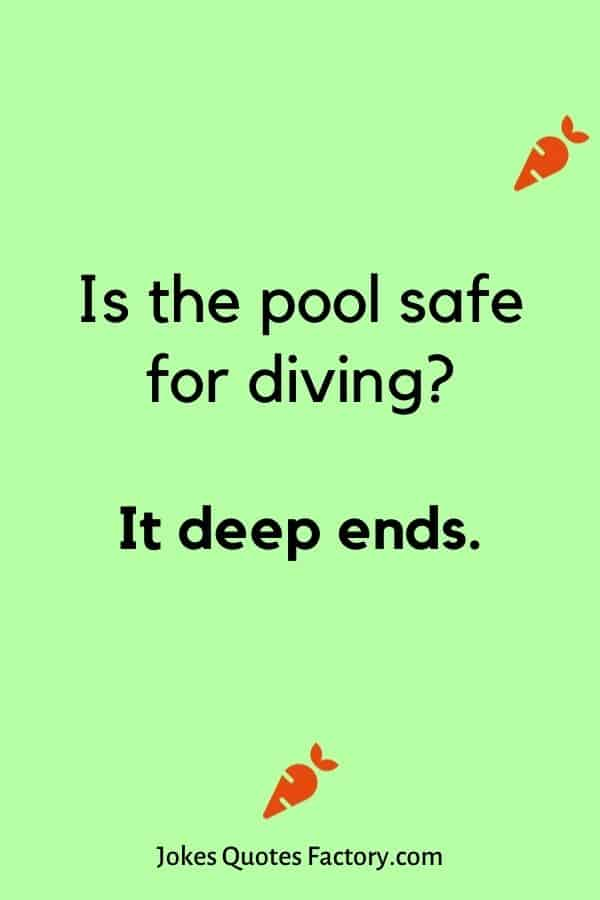 Is the pool safe for diving