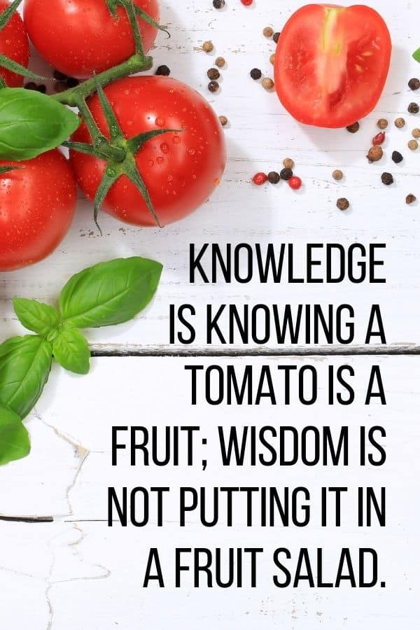 Knowledge is knowing a tomato is a fruit