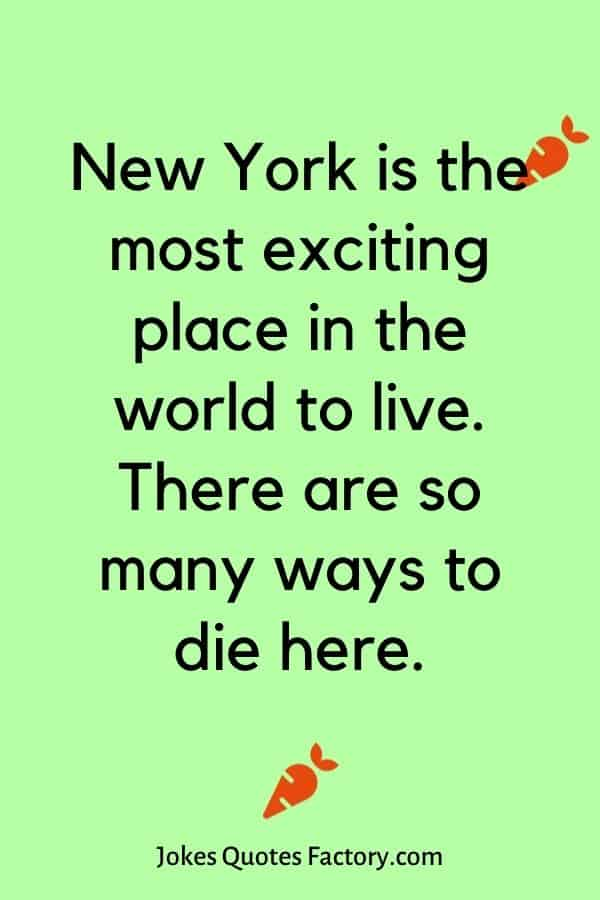 New York is the most exciting place in the world to live