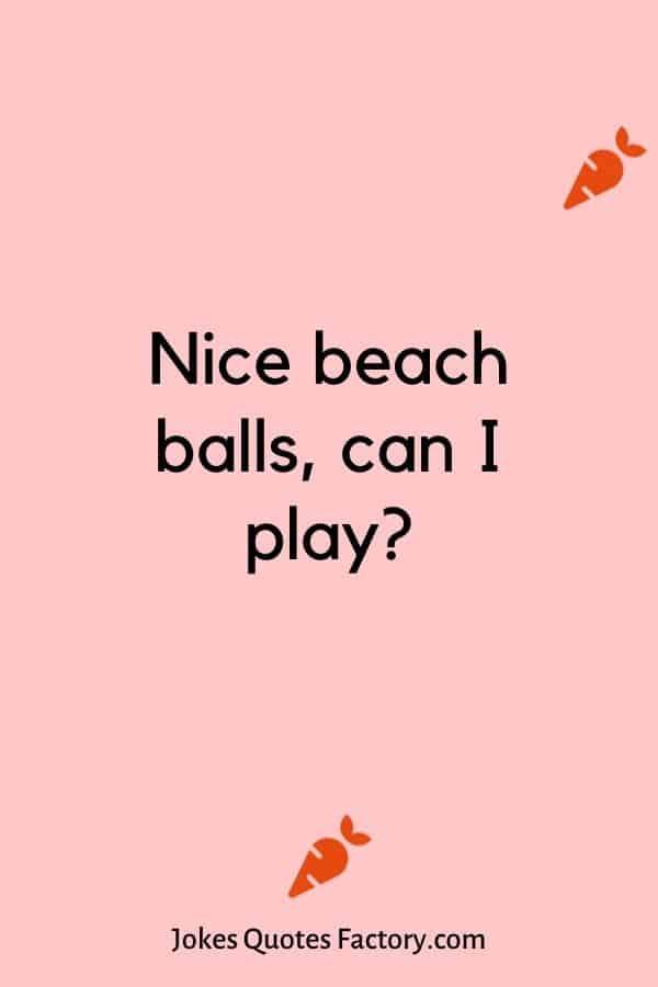 Nice beach balls, can I play?