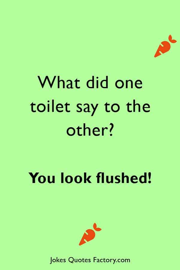 What did one toilet say to the other - cleaning jokes