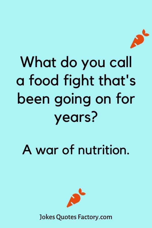What do you call a food fight that's been going on for years