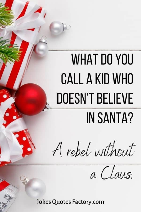 What do you call a kid who doesn't believe in Santa