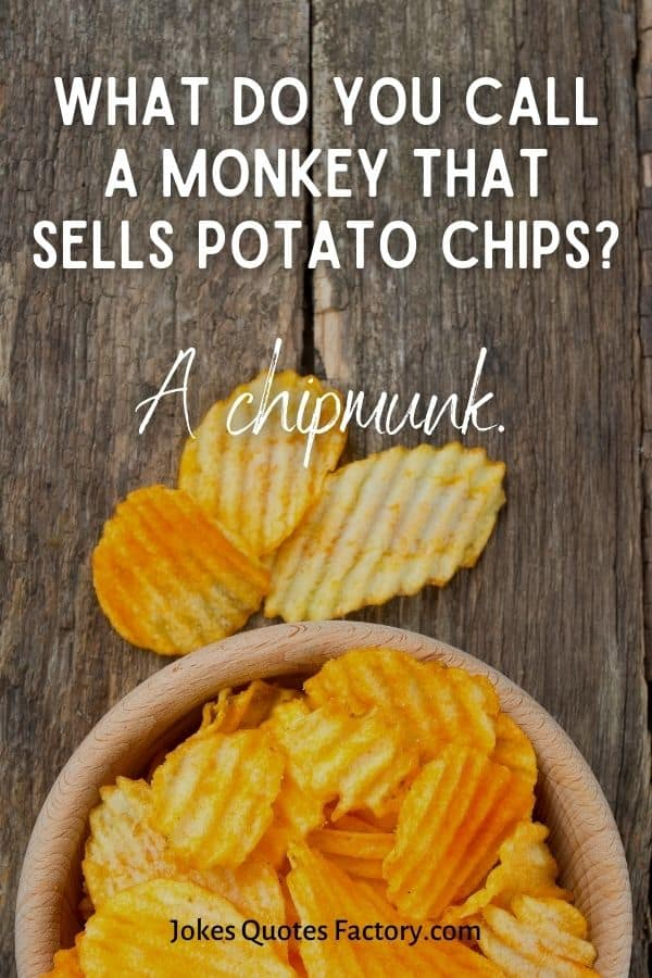 What do you call a monkey that sells potato chips