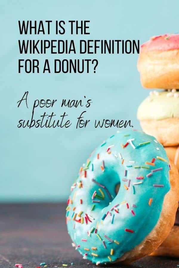 What is the Wikipedia definition for a donut