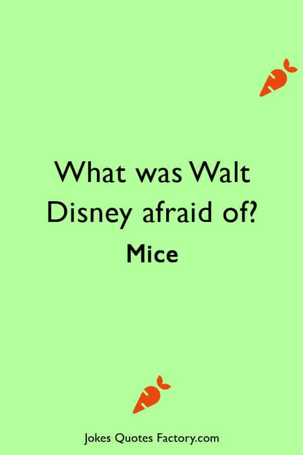 What was Walt Disney afraid of Mice