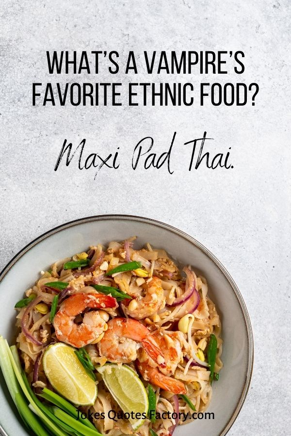 What's a vampire's favorite ethnic food