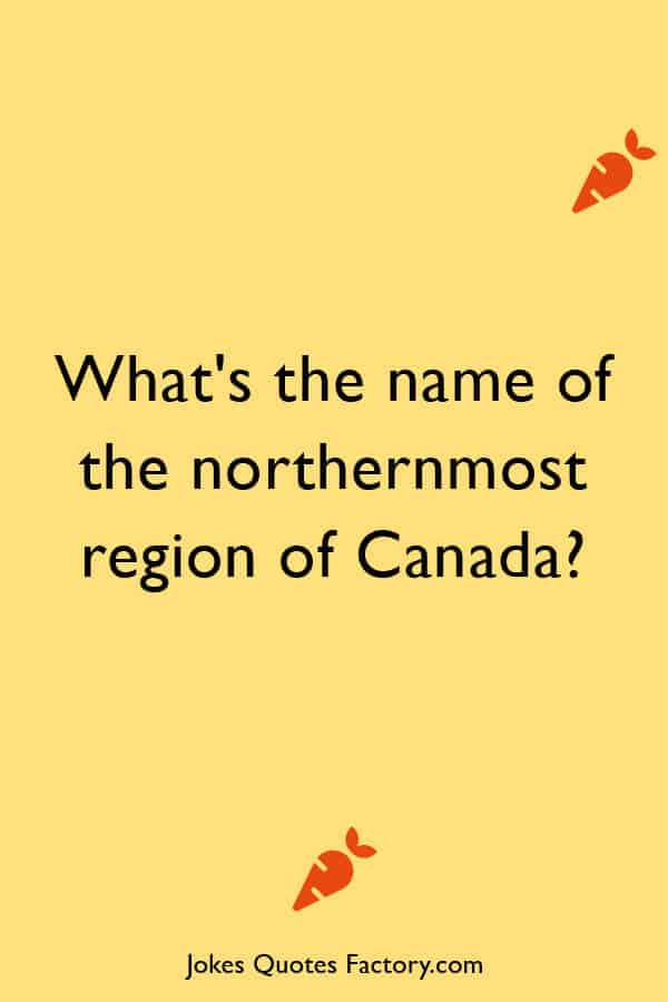 What's the name of the northernmost region of Canada