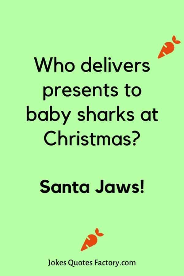 Who delivers presents to baby sharks at Christmas