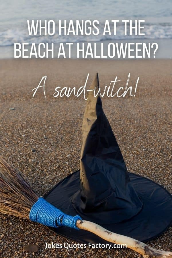 Who hangs at the beach at halloween