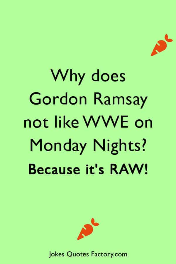 Why does Gordon Ramsay not like WWE on Monday Nights Because its RAW