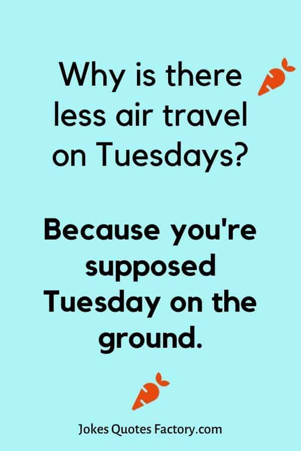 Why is there less air travel on Tuesdays