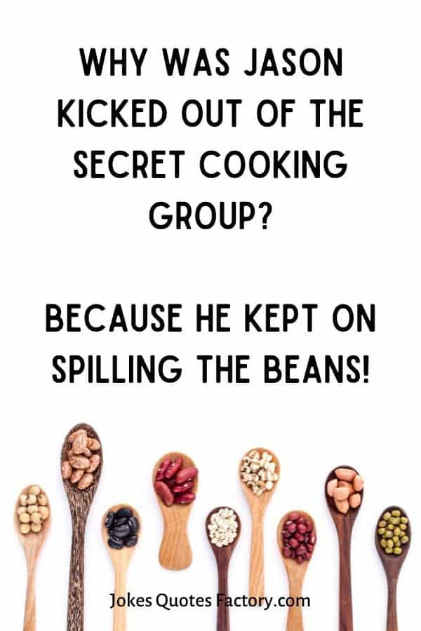 Why was Jason kicked out of the secret cooking group