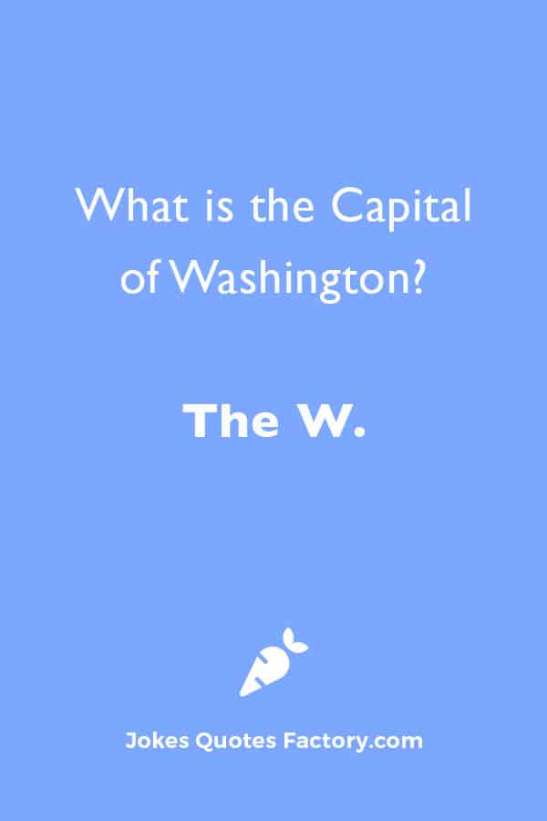 What is the Capital of Washington? The W.