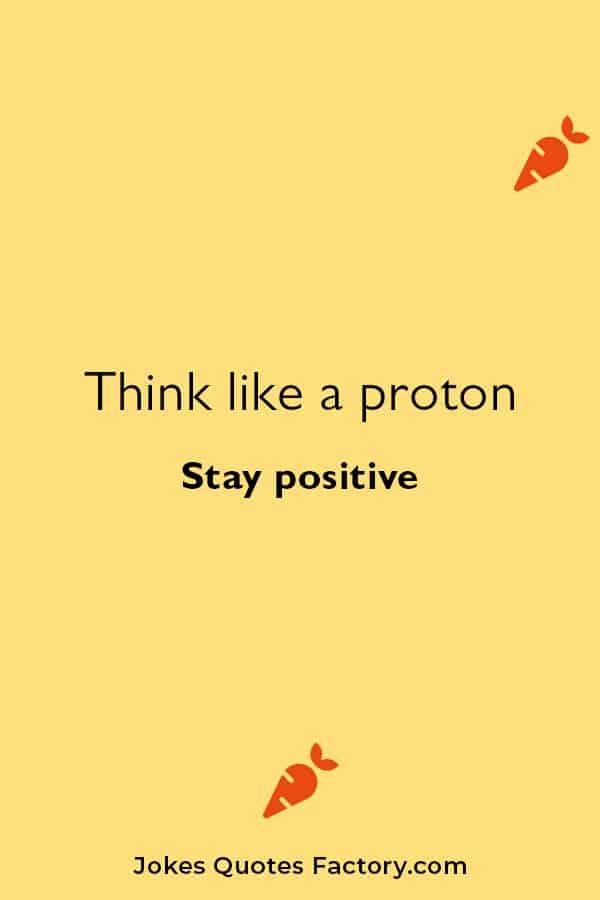 Chemistry jokes on proton