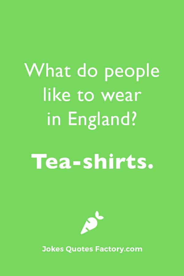 What do people like to wear in England?