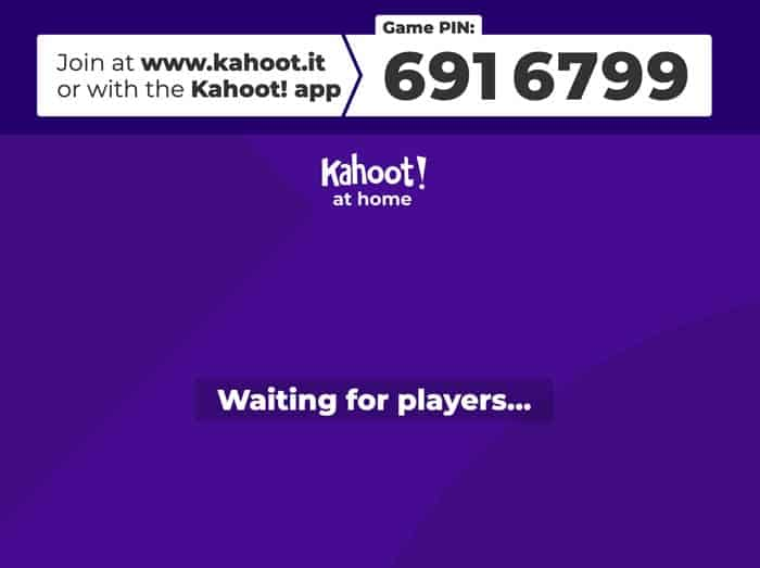 Kahoot waiting for players...