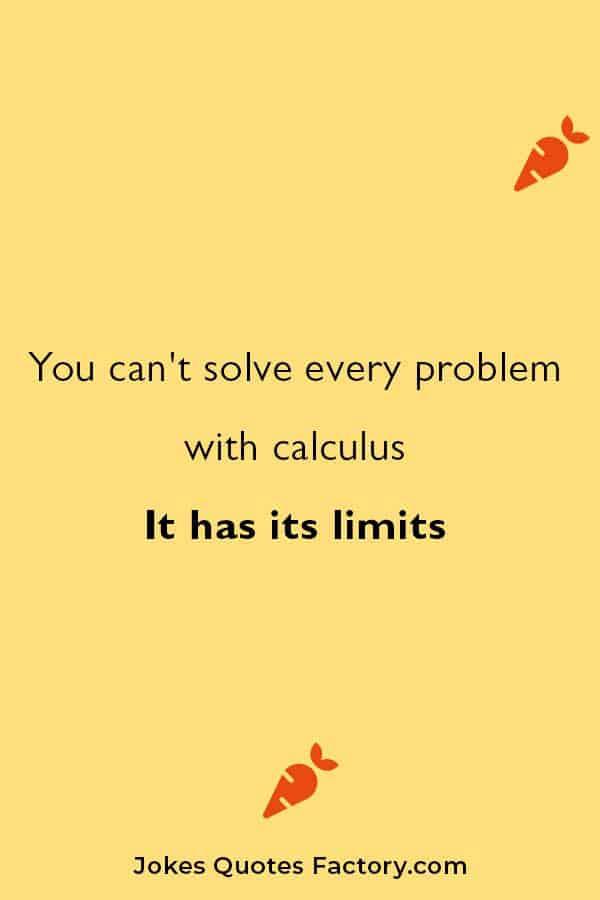 very funny math jokes on calculus