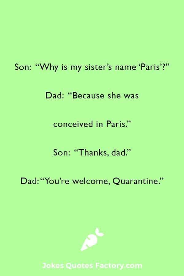 Quarantine funny joke