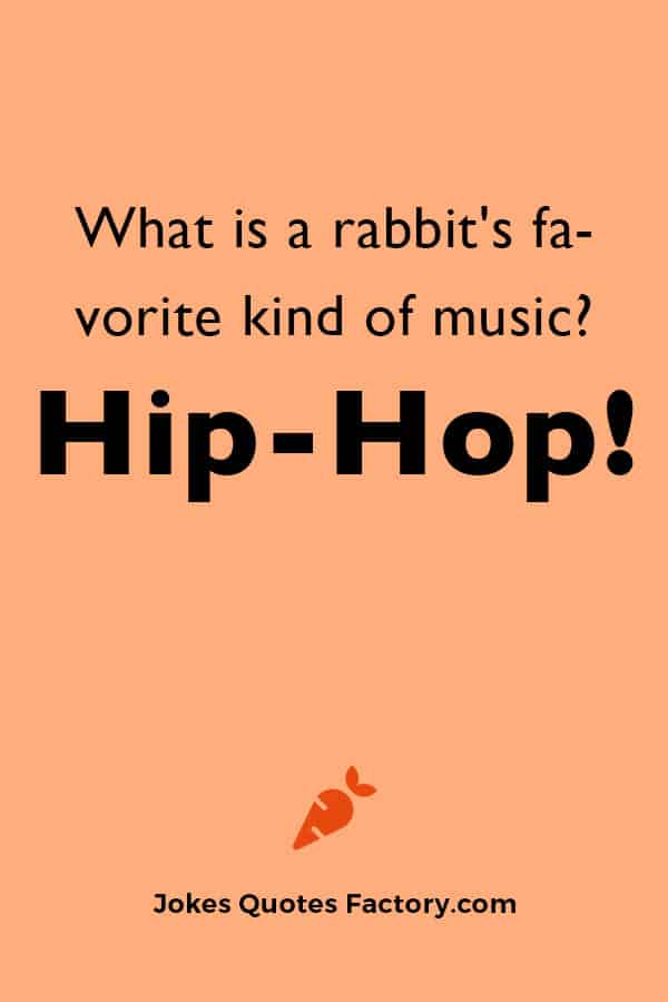 What is a rabbit's favorite kind of music? Hip-hop.