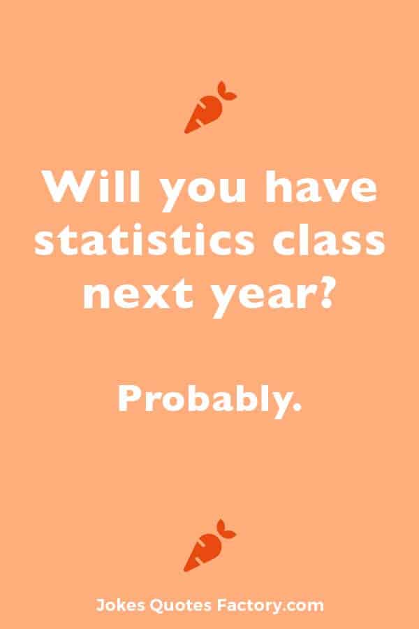 Will you have statistics class next year? Probably.