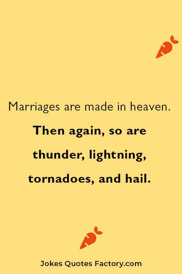 short and funny marriages jokes