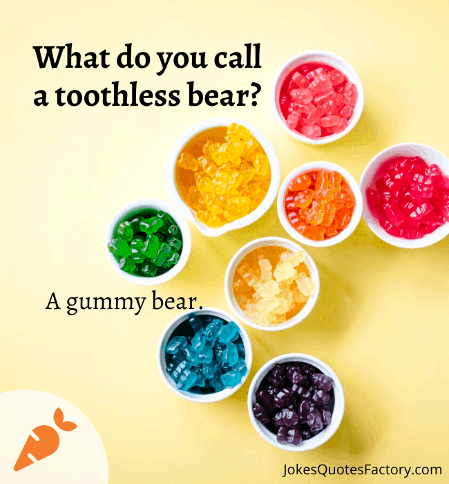 What do you call a toothless bear?