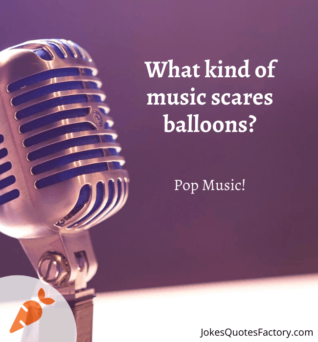 What kind of music scares balloons?