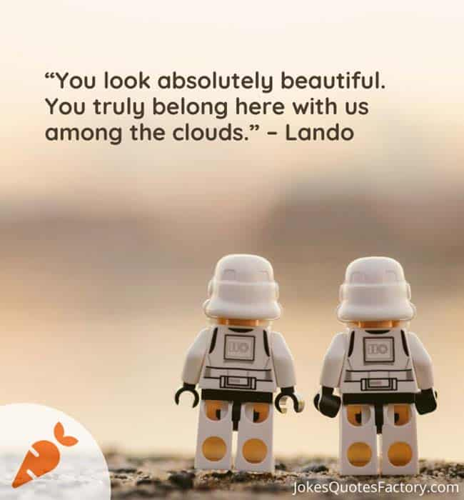 You look absolutely beautiful. You truly belong here with us among the clouds